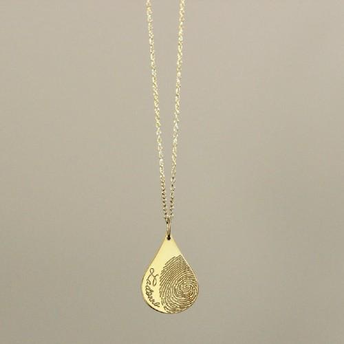 Teardrop Fingerprint Necklace