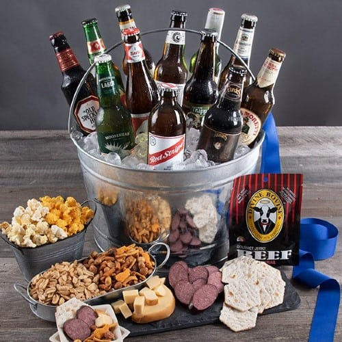 Beer, Meat, and Cheese Bucket