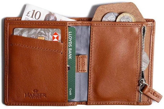 Harber London Bifold with RFID and Zippered Pouch