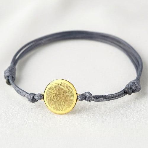Corded Fingerprint Bracelet