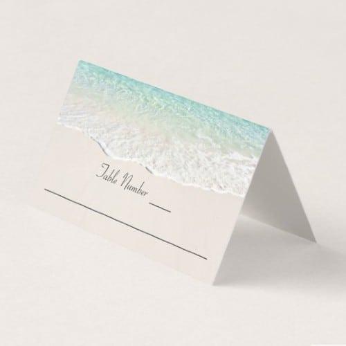 Ocean Shoreline wedding place card
