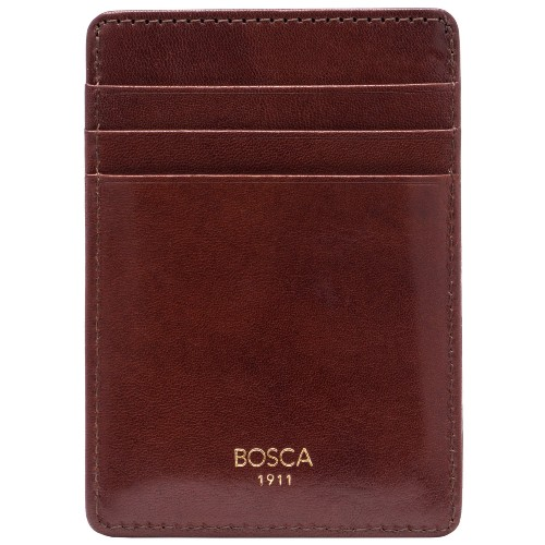 Leather Front Pocket Card Holder and Money Clip