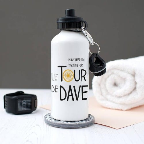 Personalized Cyclist-Themed Water Bottle