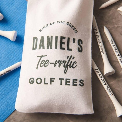 Personalized Golf Tees & Carrying Bag