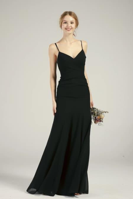 Strappy Black Mermaid Dress