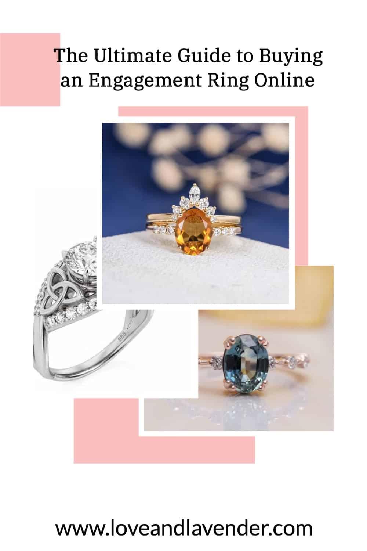 pinterest pin - buying engagement ring online