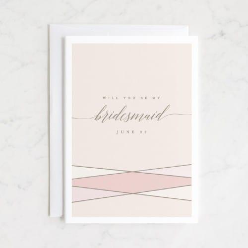 Classic Bridesmaid Proposal Card