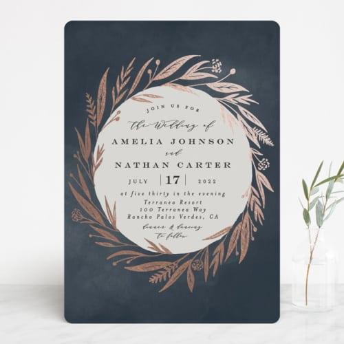 Autumn Storm Wedding Invite