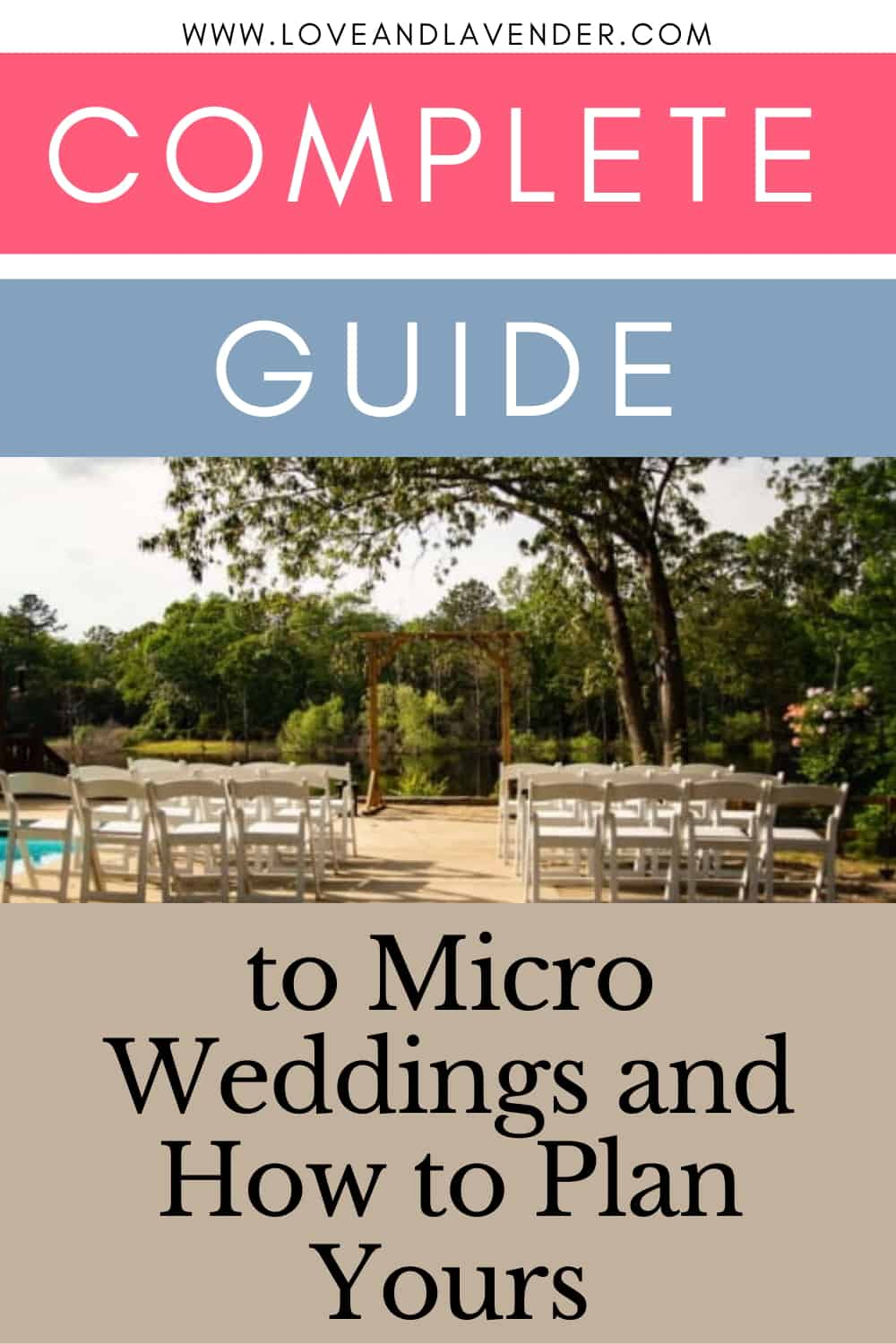 pinterest pin - guide to microweddings