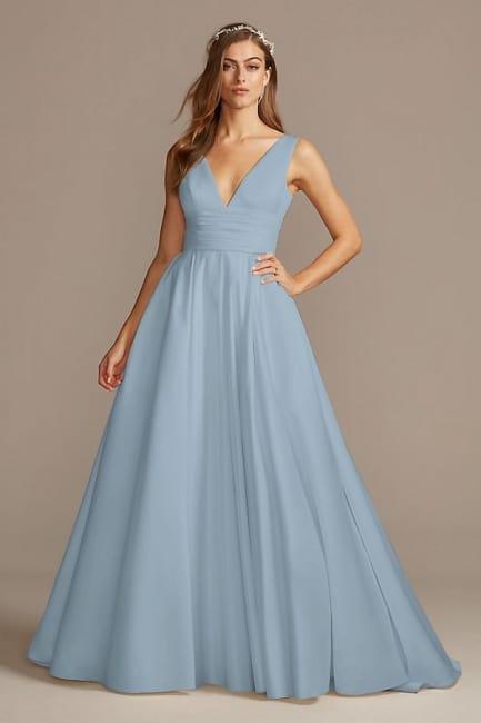 Dusty Blue A-line Wedding Dress
