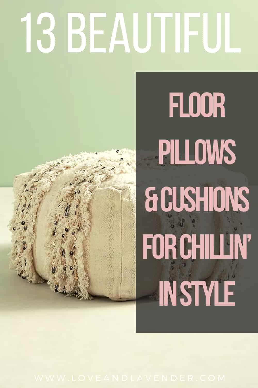 pinterest pin - floor pillows