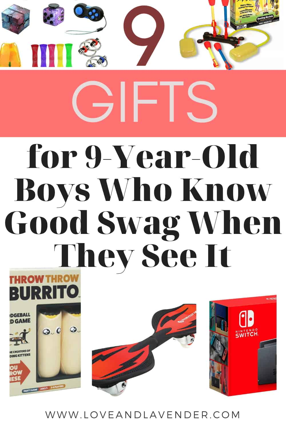 pinterest pin -gifts for 9 year old boys