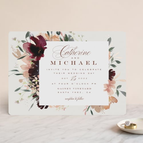 Harvest Floral Wedding Invitation
