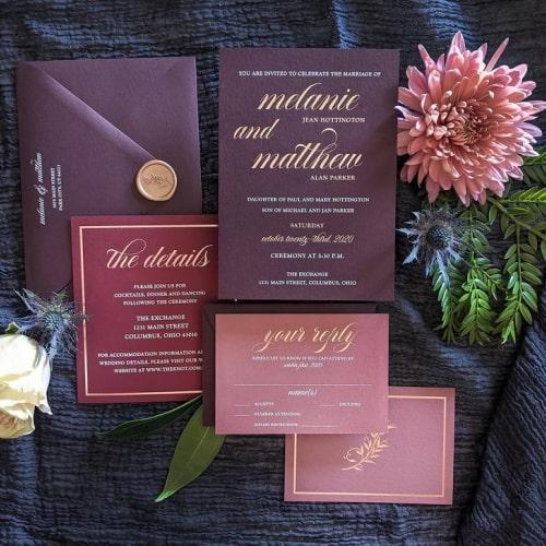 Formal Moody Romantic Wedding Invitation