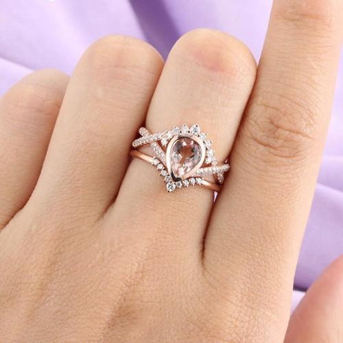 Rose Gold Art Deco Engagement Ring