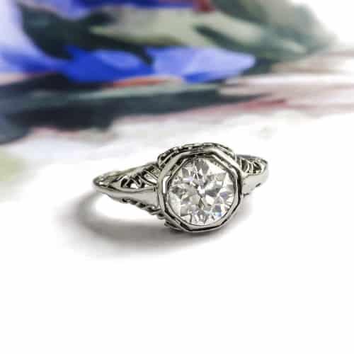 Art Deco Octagonal Filigree Ring