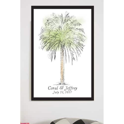 Palm Tree Wedding Guest Book