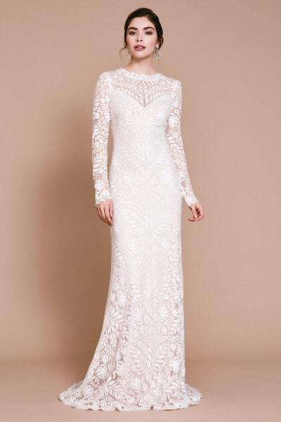 tadashi shoji lace wedding dress