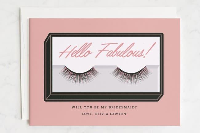 Hello, Fabulous bridesmaid proposal card