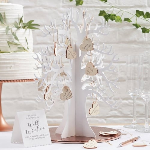 Wood Wishing Tree Guest Book