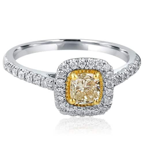 Yellow Cushion Diamond Engagement Ring