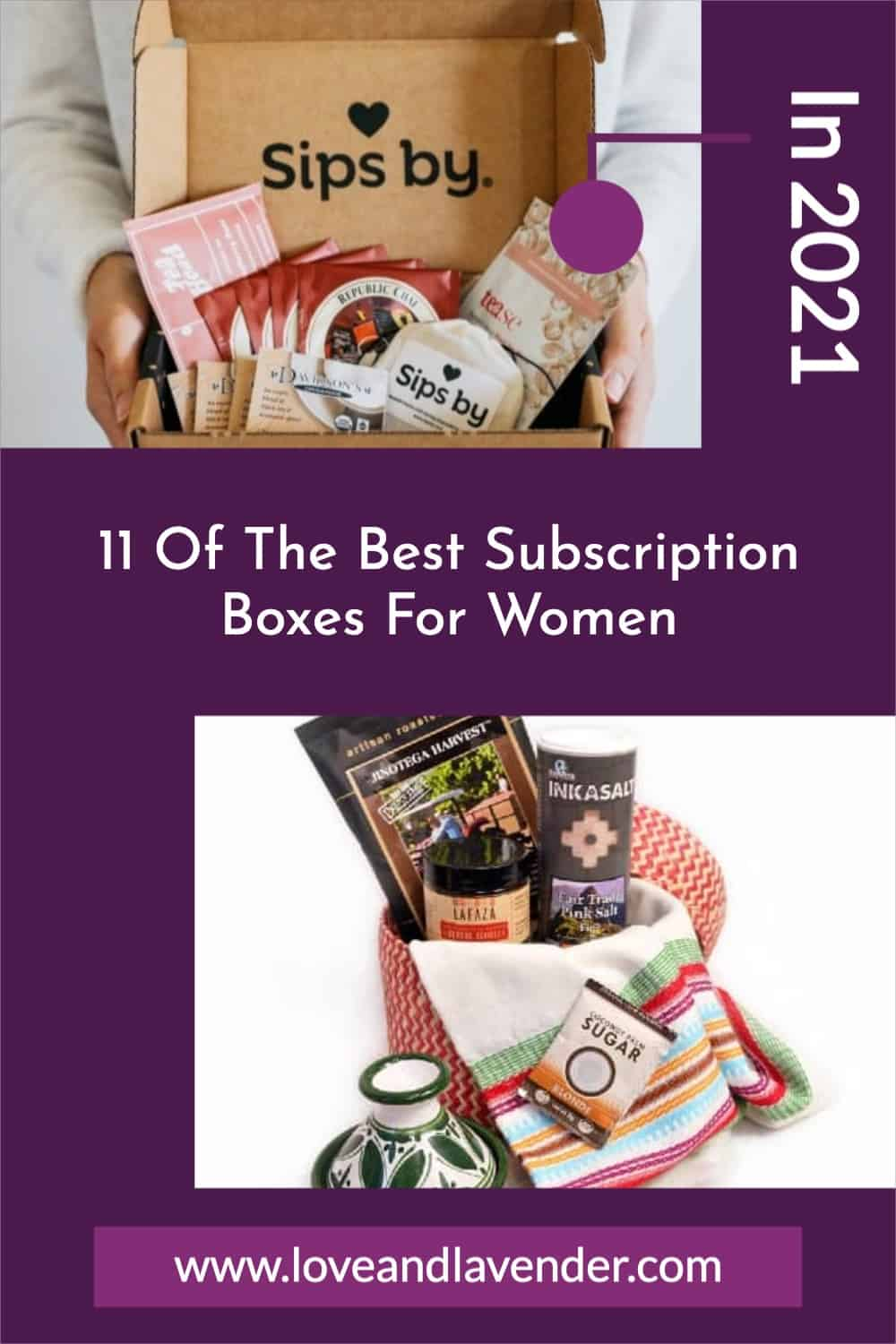 pinterest pin - subscription boxes for women