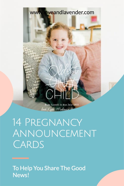 pinterest pin - pregnancy announcement cards