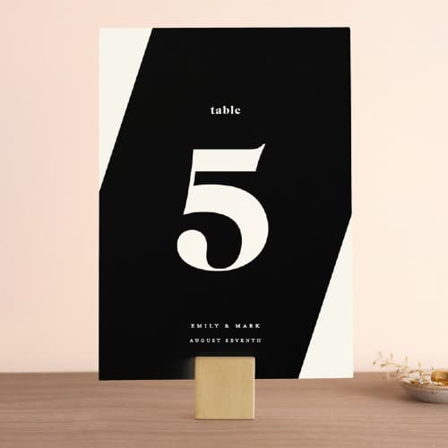 Angled Table Number sign