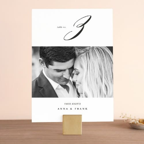 Classically Us' Photo Card Table Number Sign