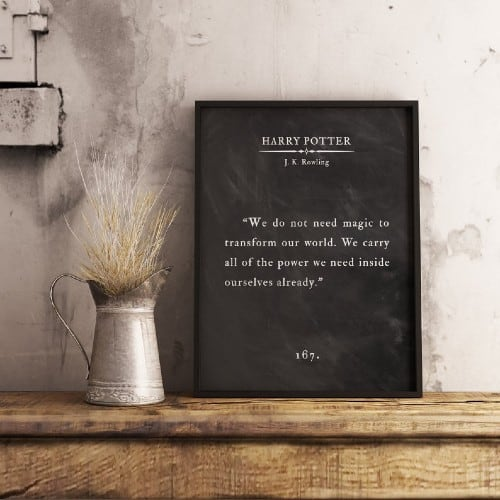 Custom Book Quote Wall Art