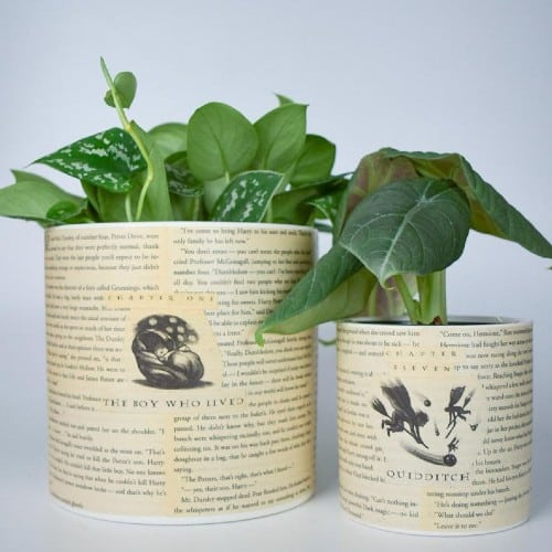 Harry Potter Book Pages Planter
