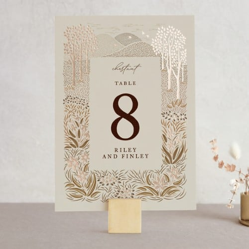Rustic 'In the Country' table number sign