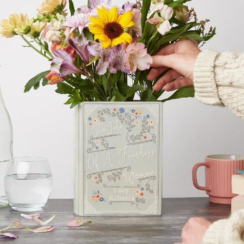 Personalized Book Vase