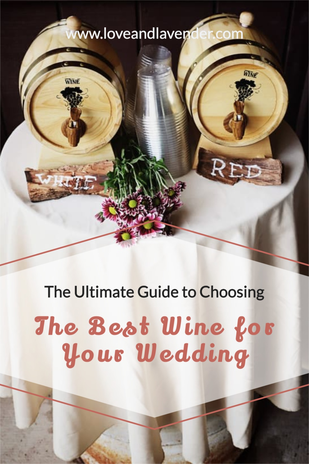 pinterest pin - wine for your wedding