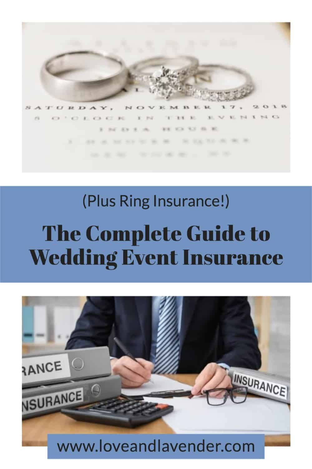 pinterest pin - wedding event insurance