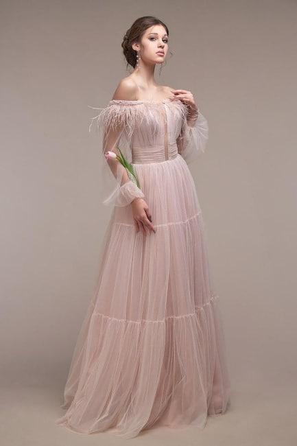 Blush Boho Wedding Dress