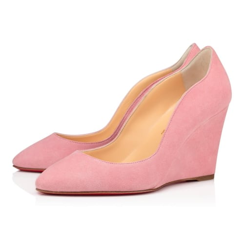 pink louboutin tanja wedge shoe