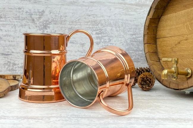 copper beer mugs