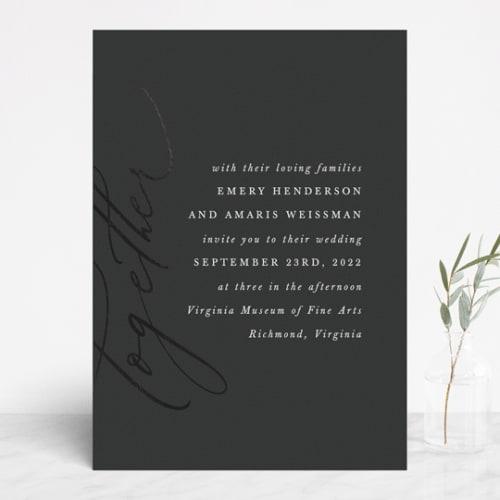 Ensemble Foil-Pressed Wedding Invite