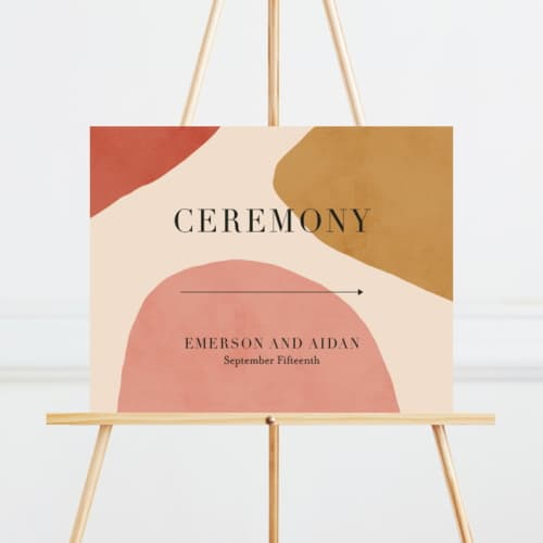 wedding ceremony direction signs