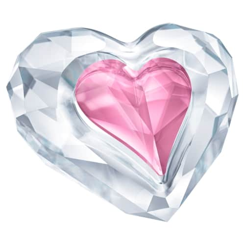 heart shaped crystal paperweight
