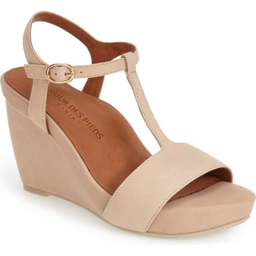 ankle strap wedge heel
