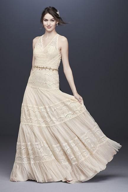 Vintage-Inspired Lace Boho Dress