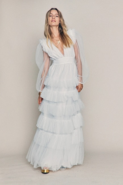 Tiered Boho Wedding Gown
