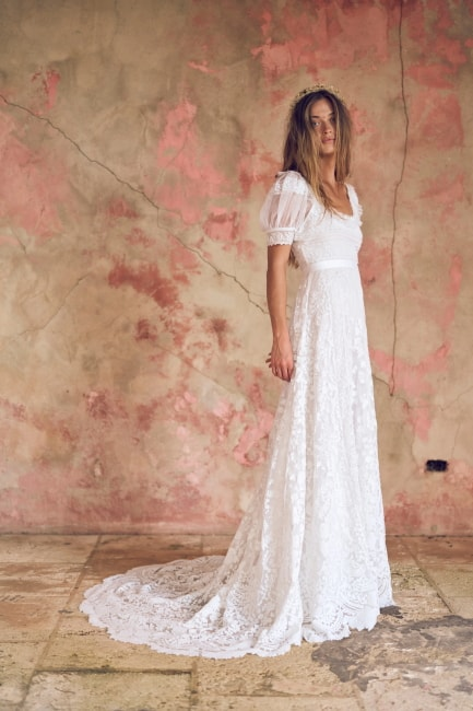 Empire Waist Boho Wedding Dress