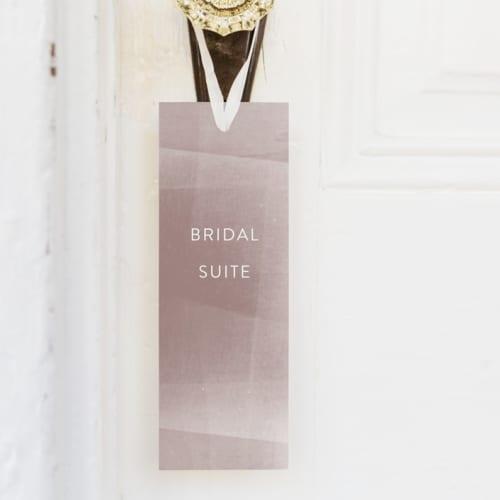 wedding door sign for bridal suite