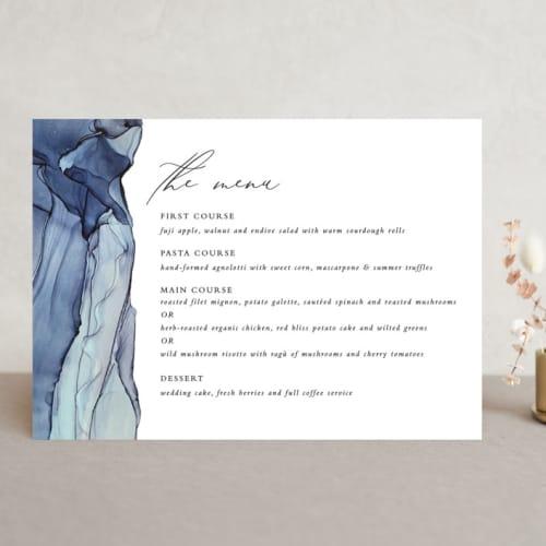 slate design wedding menu card