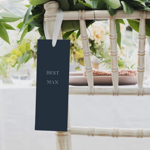 wedding chair sign for best man
