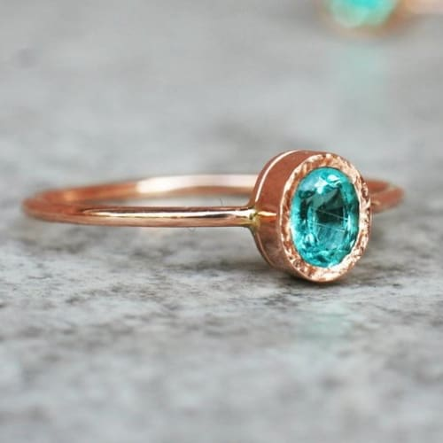 oval apatite ring